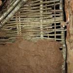 Lieska - vypletaná stena prikrytá blatom