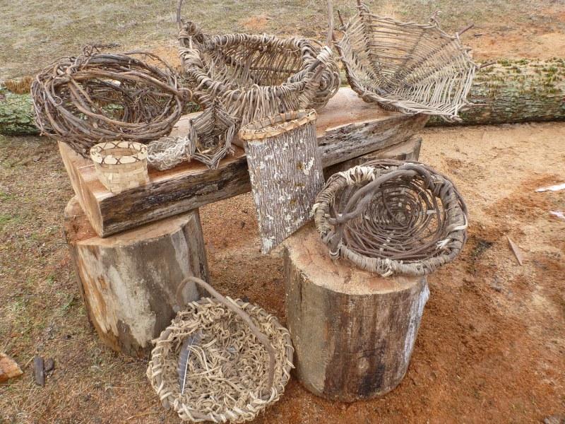 Výrobky pletené z prírodných materiálov
