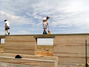 Steny z ubíjanej hliny